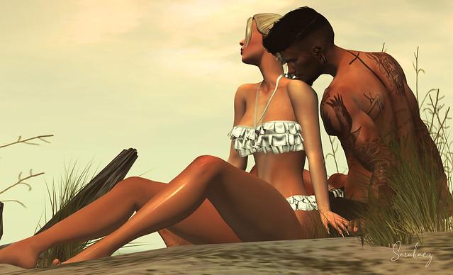 Viajar no seu sorriso, eu e você, ao som das ondas do mar.