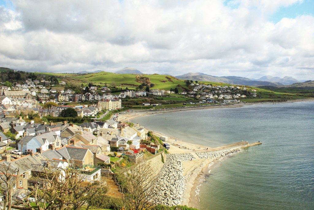 View from Criccieth Castle, North Wales