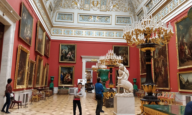 In the Hermitage, St. Petersburg