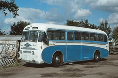 AndrewHA's posted a photo:	Foden PVRF6  -  Plaxton Venturer C33C .New during September-1951 .Foden's Sandbach Factory , Cheshire . Friday lunchtime 28th-September-1979 .