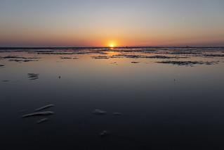 Sunrise Lower Saxon Wadden Sea National Park