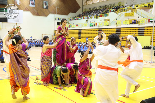 Gujarati fold dance by Young devotees