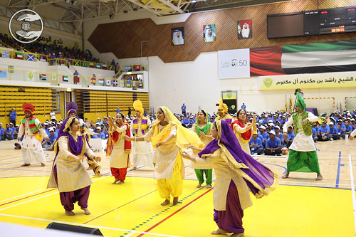 Punjabi folk dance by Young devotees