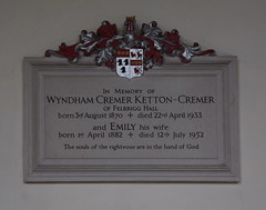 Wyndham Cremer Ketton-Cremer and Emily his wife