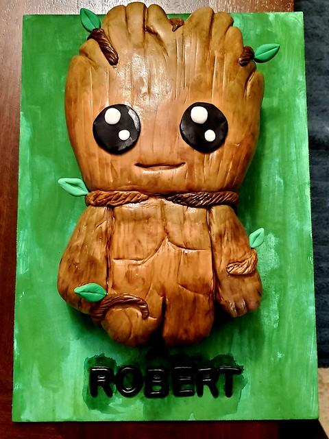 Groot Cake by Sugar Kitty Treats