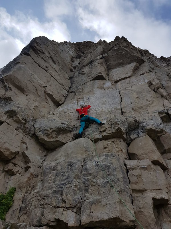 Kirsten Climbing in Simond Women's Rock Pants
