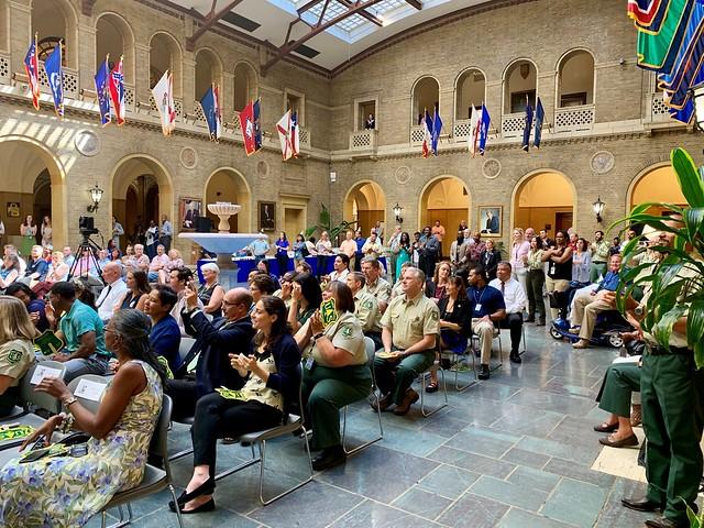 USDA employees celebrating Smokey Bear's 75th birthday