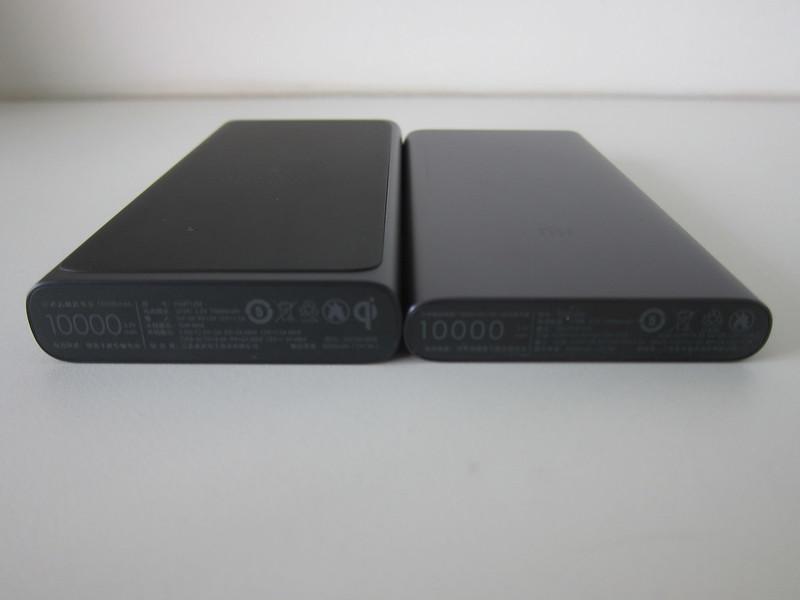 Xiaomi Mi 10,000mAh Wireless Power Bank vs Xiaomi Mi 10,000mAh Power Bank (3rd Generation) - Bottom