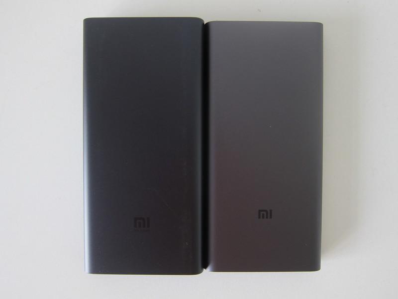 Xiaomi Mi 10,000mAh Wireless Power Bank vs Xiaomi Mi 10,000mAh Power Bank (3rd Generation) - Back
