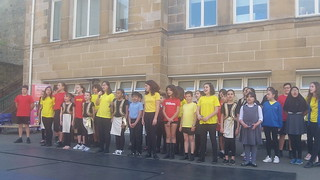 Spanish school students visit school in Glasgow