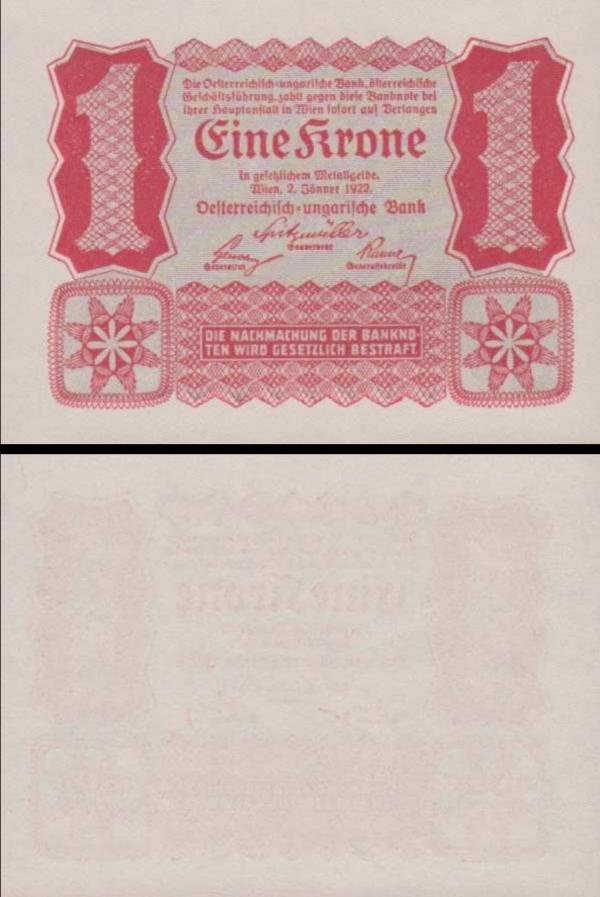 1 Krone Rakúsko 1922, P73
