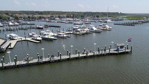 Aerial photo of Somers Cove Marina