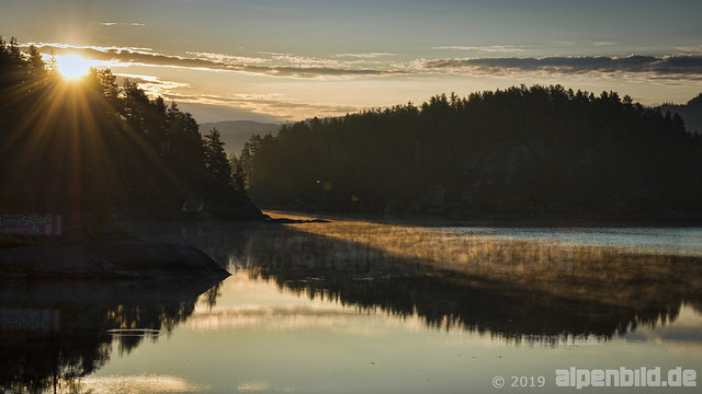 Sunrise at Lake Breidflå, Setesdal