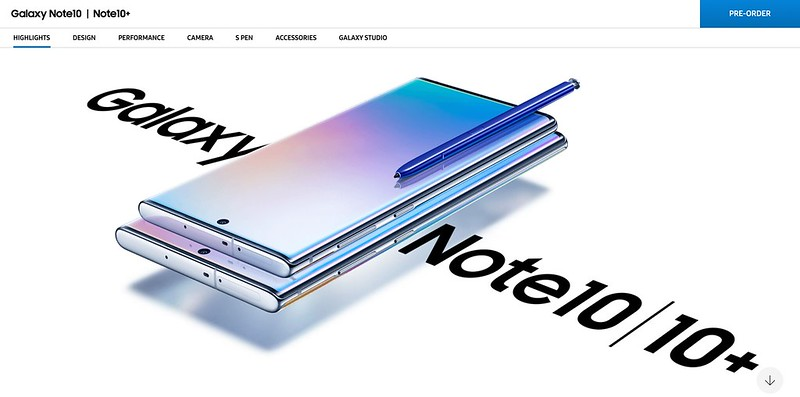 Samsung Galaxy Note10 And Note10+ Splash Image