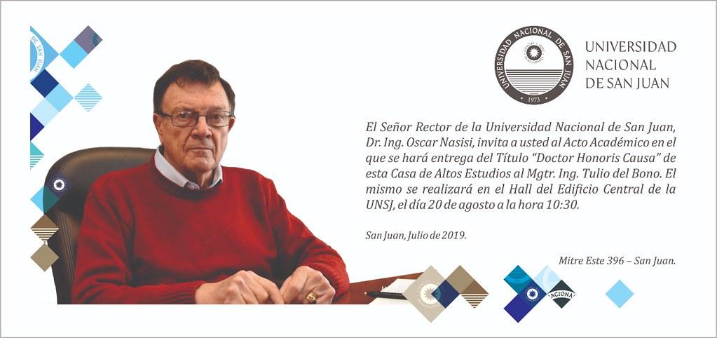 Invitación Tulio Dr Honoris Causa