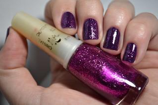 Esmaltação das corujas - Glitter fininho