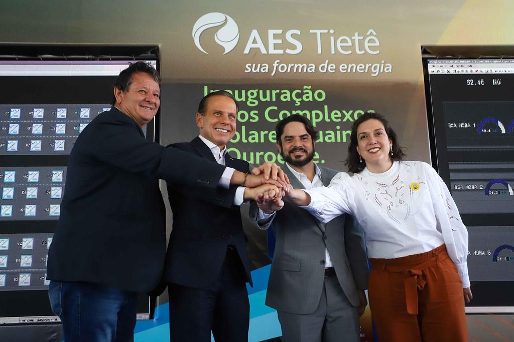 Inauguração dos complexos solares Guaimbé e Ouroeste