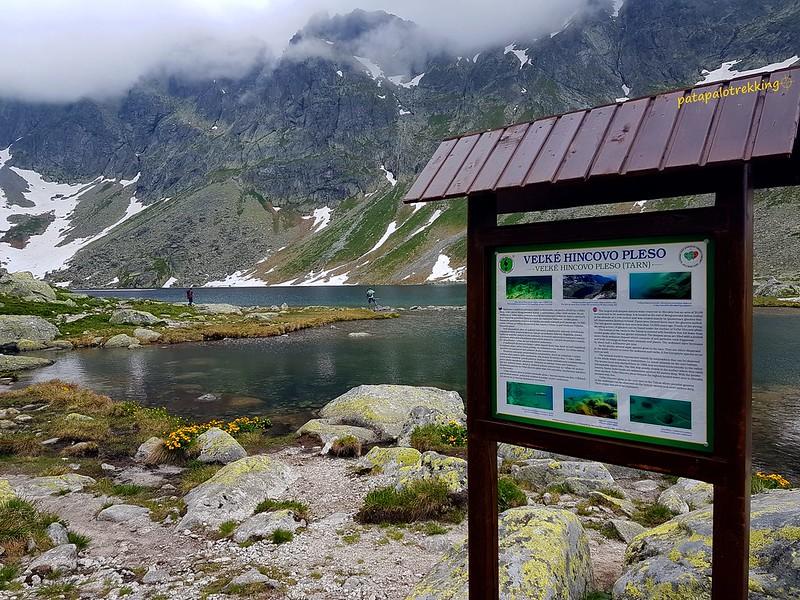 19-Velké Hincovo pleso y el pico del Prostredný Mengusovský stít