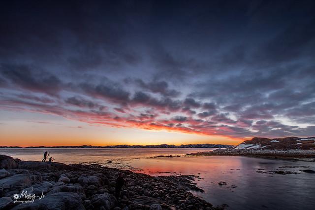 Coucher de soleil autour de Nuuk 2...  Sunset around Nuuk 2 ...