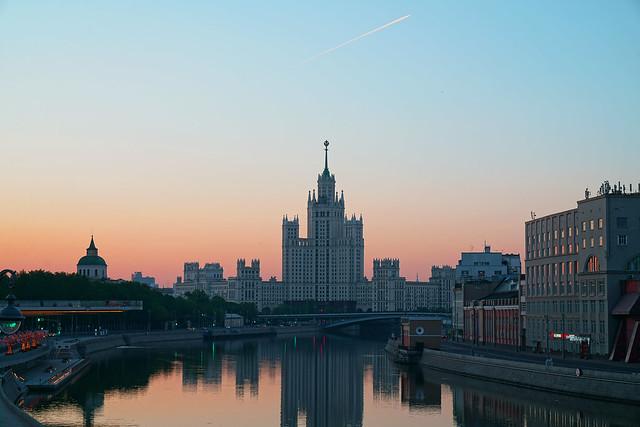 Stalin's skyscraper on Kotelnicheskaya embankment of Moscow