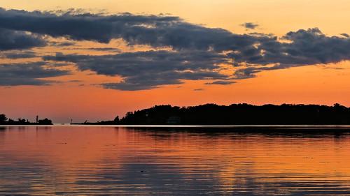 Arcadia Lake at sunset, Arcadia, MI