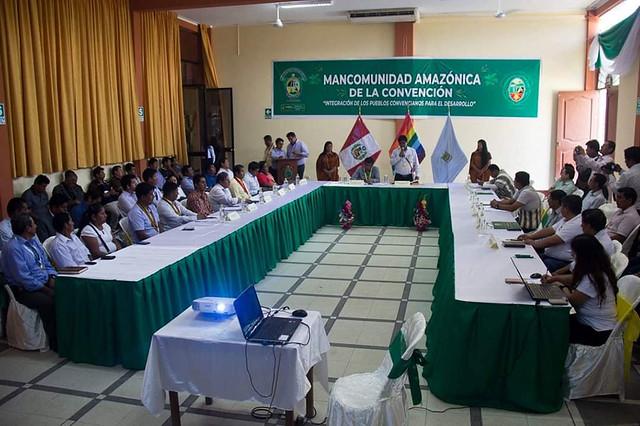A raíz de la movilización en la ciudad del cusco, alcaldes de la mancomunidad amazónica de la convención sostuvieron reunión en la PCM
