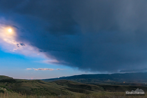 august summer nikond750 storm stormy thunderstorm weather clouds sky sheridan wyoming evening twilight blue moon anvil moonlight scenic overlook i90 bighornmountains tamron2470mmf28 hills