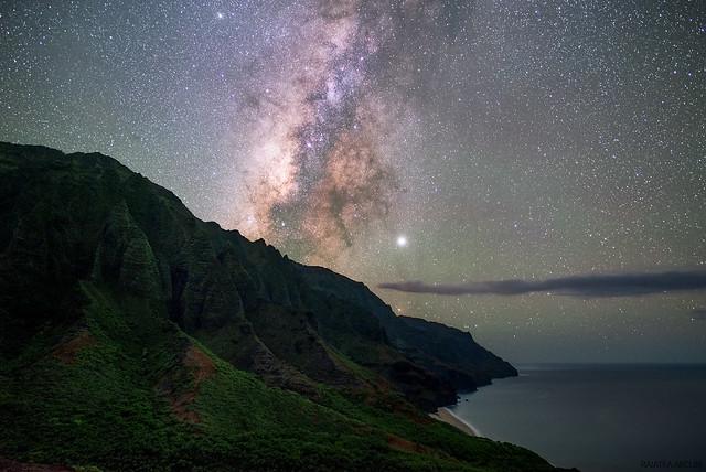 Milky Way Over Kalalau Valley