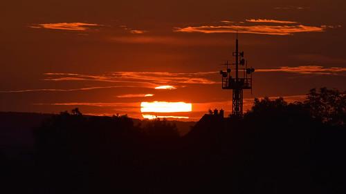 """Sunset at the """"Napoleonstein"""" in Jena."""