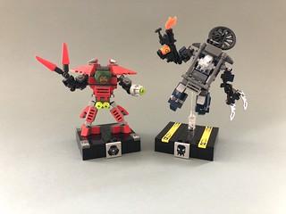 [old stuff] Exo Force Mini Fire Vulture and Grand Titan
