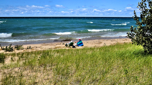 A day at the beach.  At the Woollam Family Nature Preserve on Lake Michigan