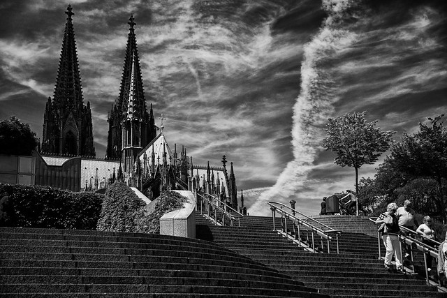 Dom, stairs and Clouds