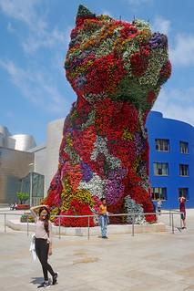 Posers, Photographers, and Puppy - Guggenheim Museum, Bilbao, Spain