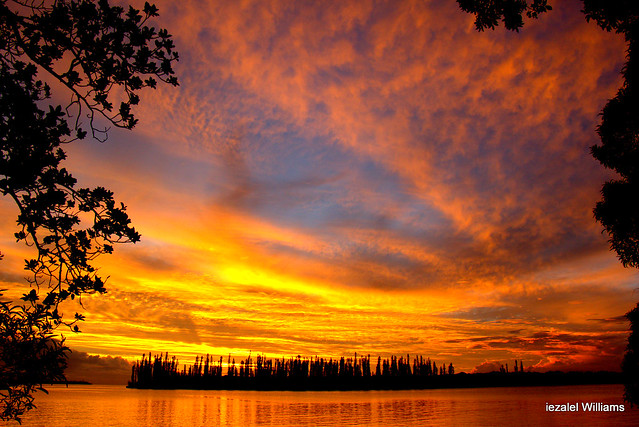 An Impressive sunset in Isle of Pines in New Caledonia by iezalel williams IMG_0255