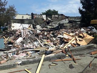 Clarke Street fire wreckage - Port Moody, BC
