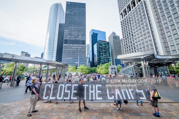 Close the camps silent protest at Staten Island Ferry Terminal