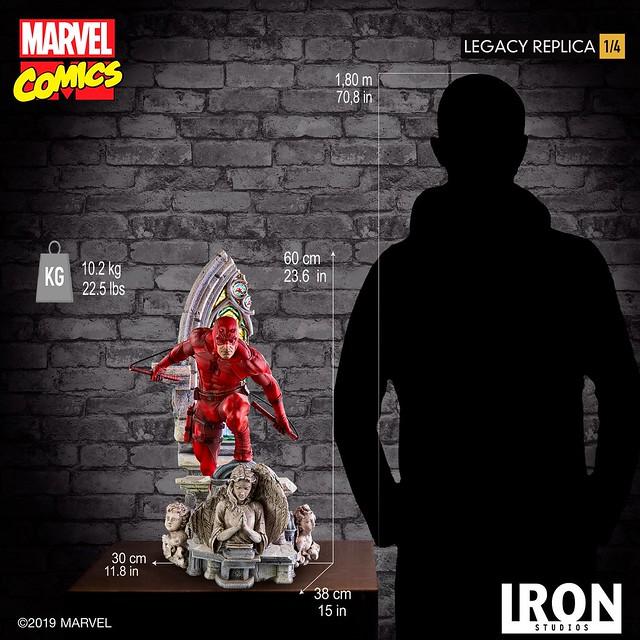 Iron Studios Legacy Replica 系列 Marvel Comics【夜魔俠】Daredevil 1/4 比例全身雕像作品