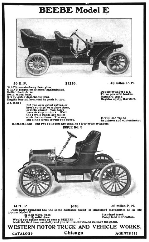 1906 Beebe Model E Touring Car and Runabout