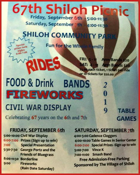 Shiloh Picnic 9-6, 9-7-19