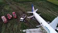 Самолет Уральских авиалиний совершил экстренную посадку в поле кукурузы