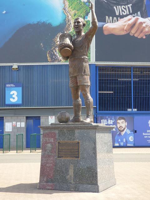 Frederick Charles Keenor Statue Cardiff City Stadium Cardiff Aug 2019 F
