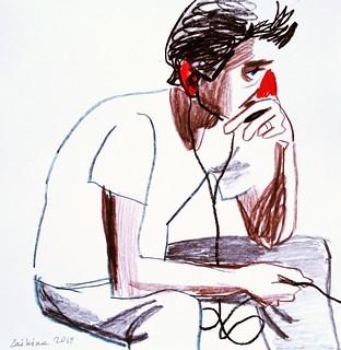 Maria Zaikina, Miron, pencils on paper, 2019