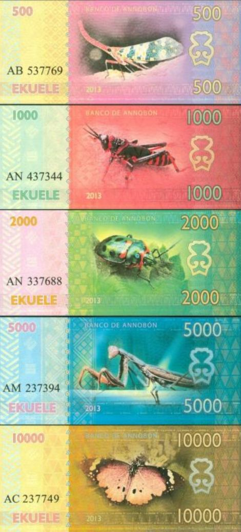 ISLA de ANNOBON 500-10.000 Ekuele 2013