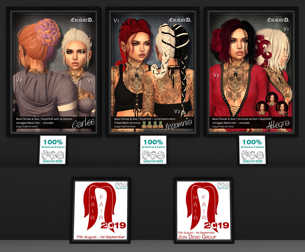 .EscalateD. | HAIR FAIR DEMO's