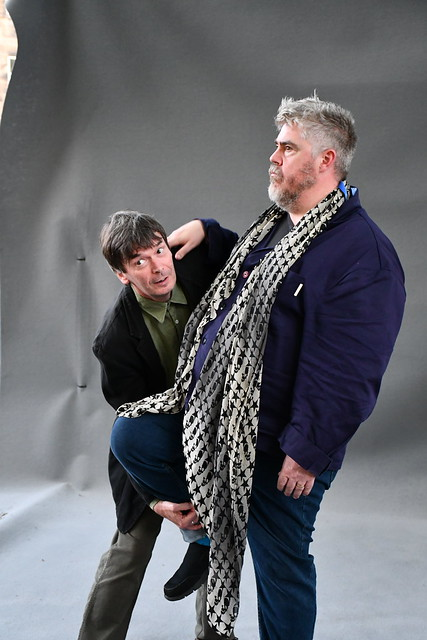 Ian Rankin and Phill Jupitus