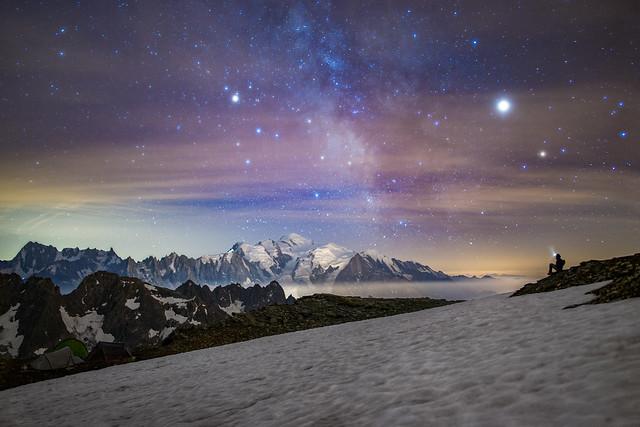 Mont Blanc form Mont Buet, 3096m