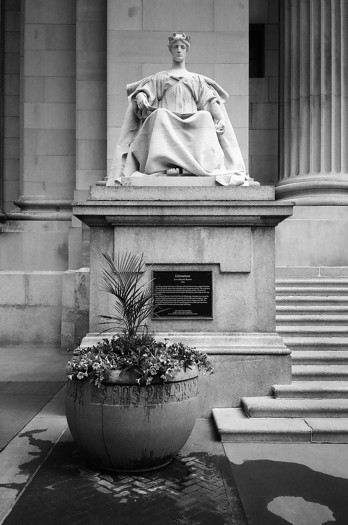 Statue at Courthouse, 2