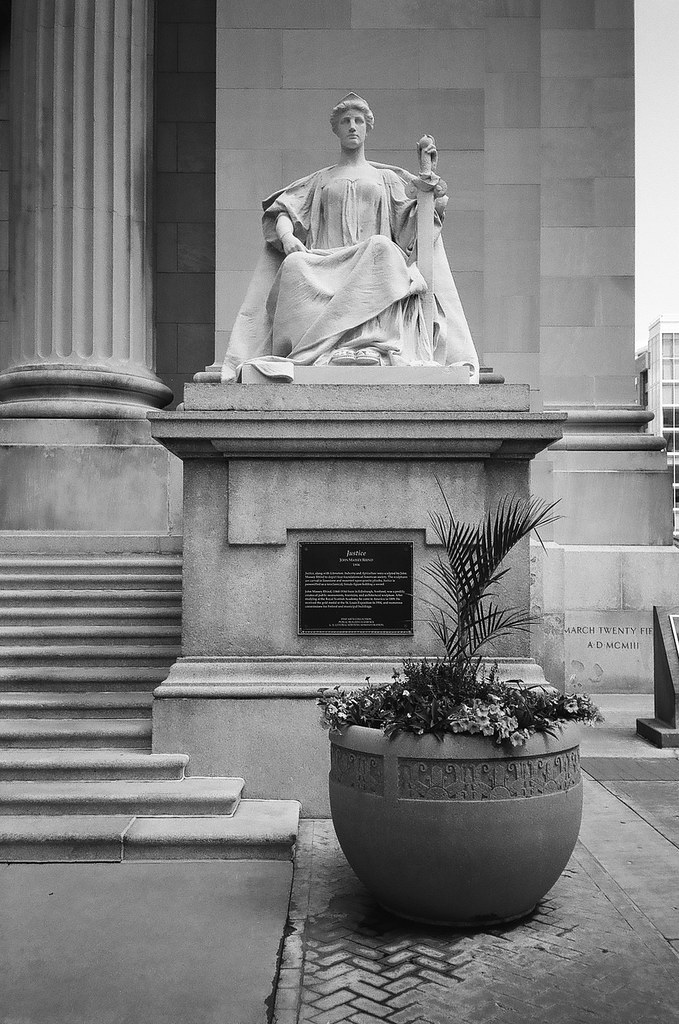 Statue at Courthouse, 1
