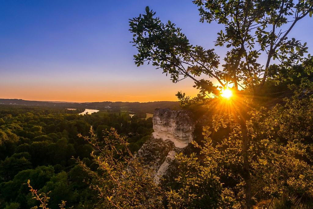 Coucher de soleil sur la vallée de la seine