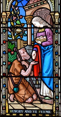 Works of Mercy: 'Hungry and ye fed me' (O'Connors? c1870)
